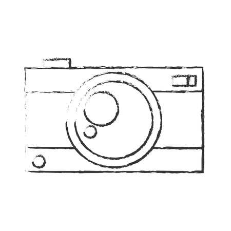 digicam: Camera icon. Device gadget technology and electronic theme. Isolated design. Vector illustration Illustration