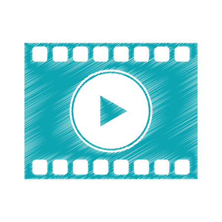 Film strip icon. Cinema movie video film and media theme. Isolated design. Vector illustration Illustration