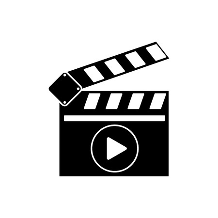 cinema viewing: Clapboard icon. Cinema movie video film and media theme. Isolated design. Vector illustration