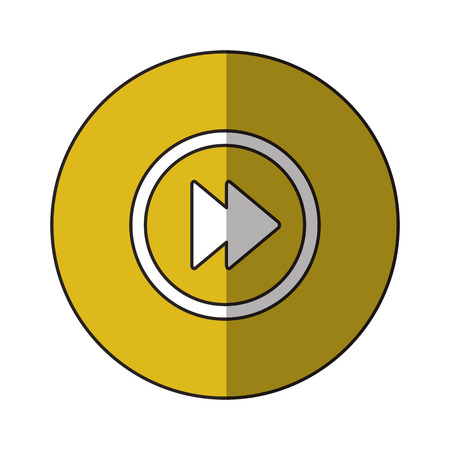 Play inside circle icon. Cinema movie video film and media theme. Isolated design. Vector illustration