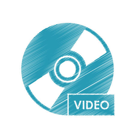 Cd icon. Cinema movie video film and media theme. Isolated design. Vector illustration