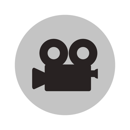 Videocamera device icon. Cinema movie video film and media theme. Isolated design. Vector illustration