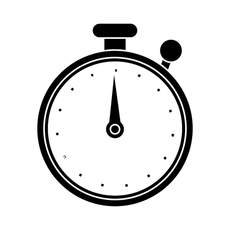 Chronometer tool icon. Time instrument second and sport theme. Isolated design. Vector illustration Illustration