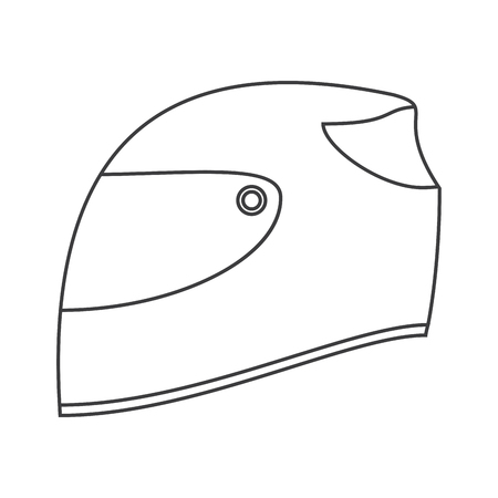 Helmet icon. Formula racing competition sport and speed theme. Isolated design. Vector illustration