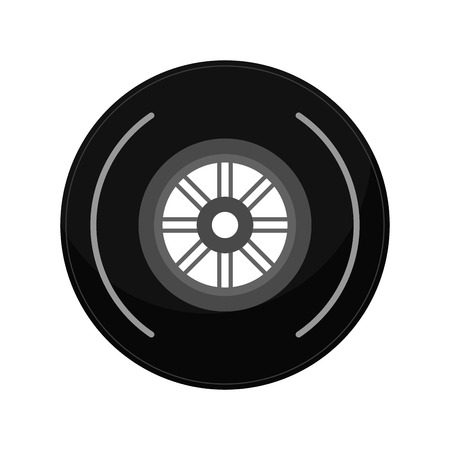 vehicle wheel icon. Transportation travel  trip and industry theme. Isolated design. Vector illustration