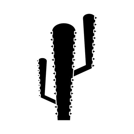 western theme: Cactus icon. Plant desert nature tropical summer and western theme. Isolated design. Vector illustration