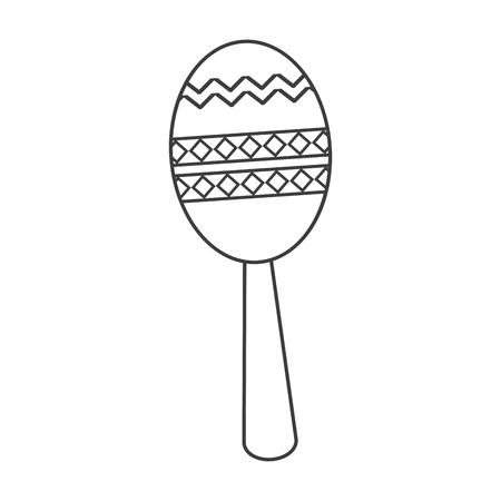 maraca: Maraca instrument icon. Music sound musical and communication theme. Isolated design. Vector illustration Illustration