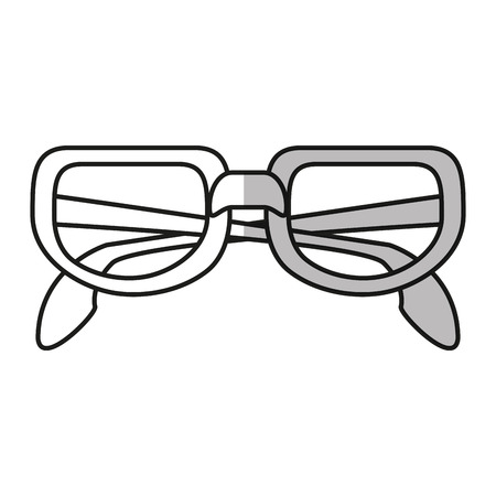 Glasses icon. Fashion style accessory eyesight and lens theme. Isolated design. Vector illustration Illustration