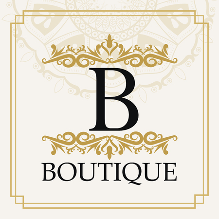 Boutique and ornament icon. Exclusive rich glamour and member and decoration theme. Vector illustration Ilustração