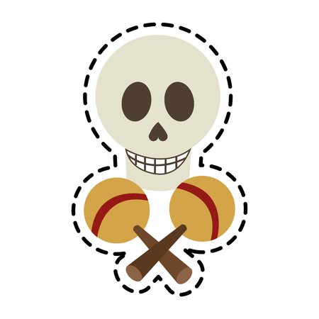 skull icon. Mexican culture landmark and latin theme. Isolated design. Vector illustration Illustration