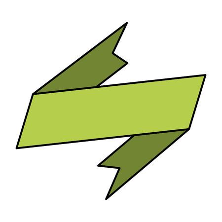 banner ribbon neon green graphic vector illustration Illustration
