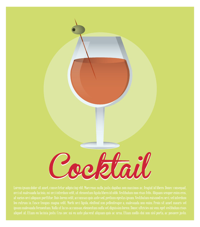 olive green: cocktail alcoholic olive green background vector illustration