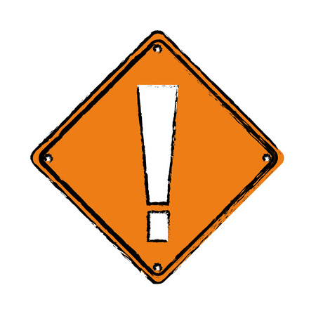 dangerous construction: drawing warning alert attention sign icon vector illustration Illustration