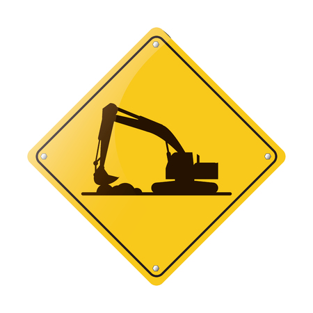 quarry: excavator truck construction work hard vector illustration eps 10