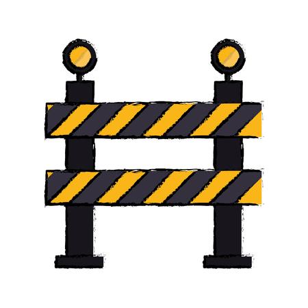 hazard stripes: barrier restricted street stripe design drawing vector illustration