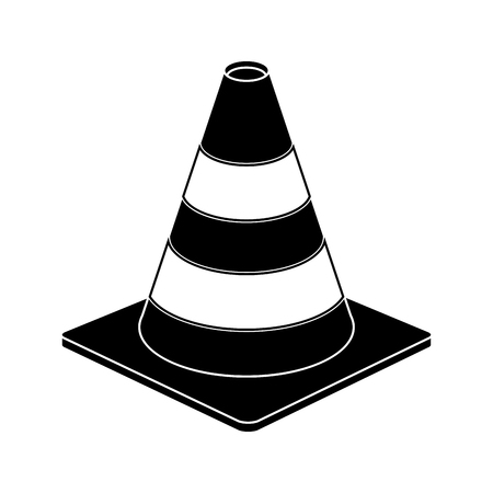 traffic cone warning sign design pictograph vector illustration
