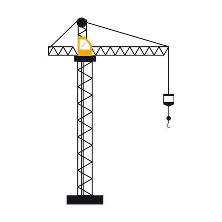 p buildings: crane hook construction machine vector illustration Illustration