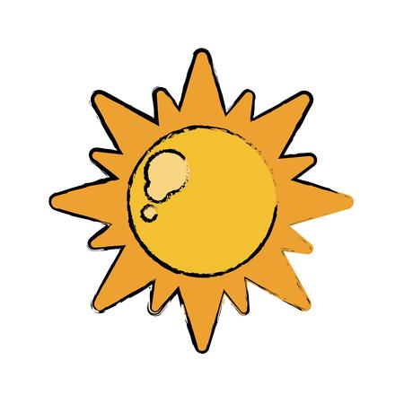 sun energy: drawn sun energy natural symbol design vector illustration Illustration