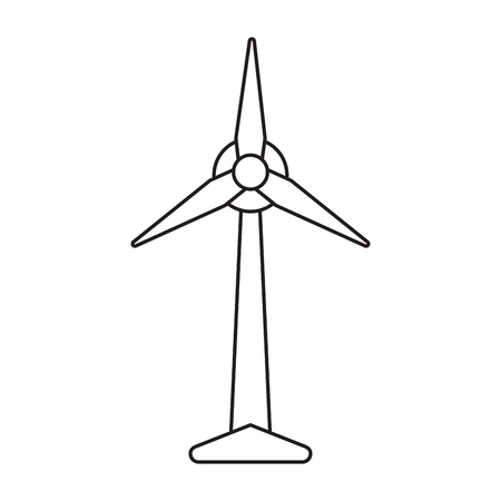 ecology wind turbine electricity generator pictograph vector illustration