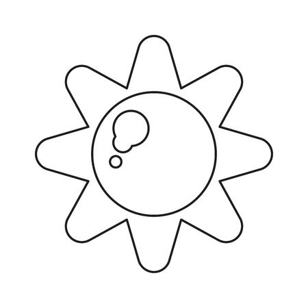 sun energy: sun energy natural symbol design pictograph vector illustration