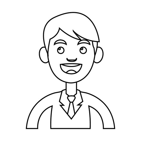 businesspersons: Businessman cartoon icon. Man male business and businesspeople theme. Isolated design. Vector illustration