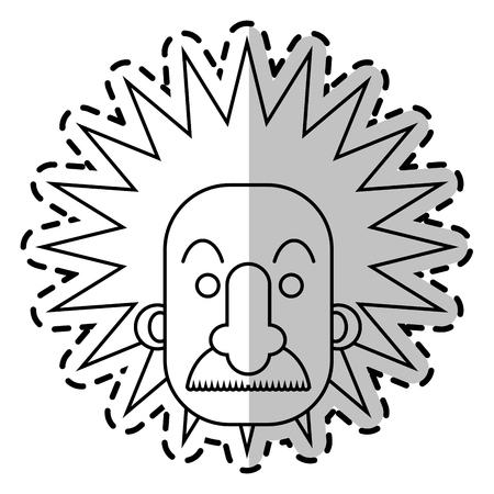 einstein: Einstein icon. Science laboratory chemistry and research theme. Isolated design. Vector illustration Illustration