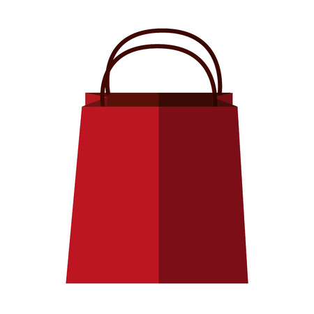 bag icon: Shopping bag icon. Commerce market store and shop theme. Isolated design. Vector illustration