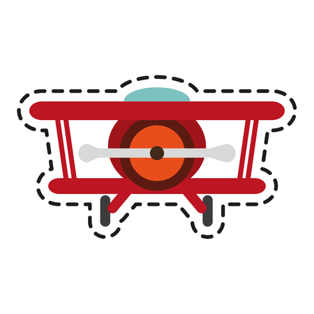 Airplane toy icon. Childhood play game and object theme. Isolated design. Vector illustration