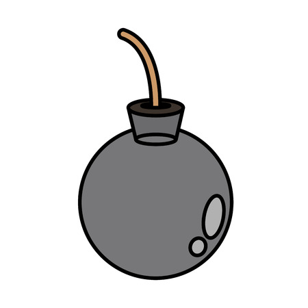 Bomb icon. Explosion military weapon and destruction theme. Isolated design. Vector illustration Illustration