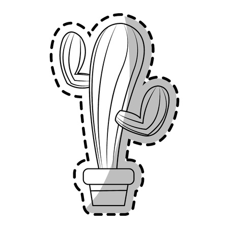 Cactus icon. Plant desert nature and tropical theme. Isolated design. Vector illustration Illustration