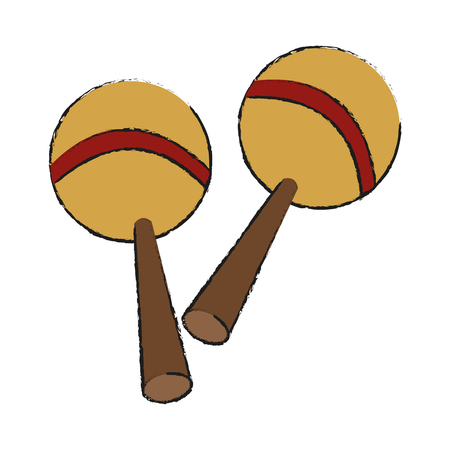 maraca icon. Instrument music sound and musical theme. Isolated design. Vector illustration