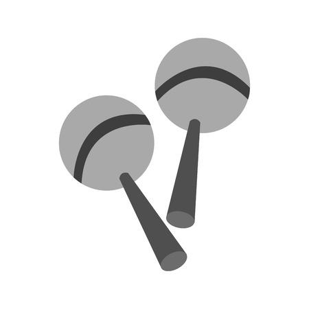 maraca: maraca icon. Instrument music sound and musical theme. Isolated design. Vector illustration