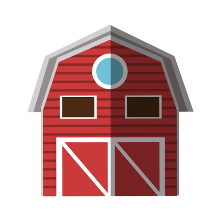 cultivating: Building icon. Farm stable house and rural theme. Isolated design. Vector illustration Illustration