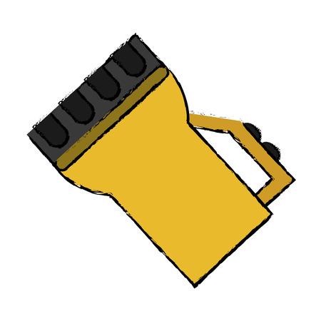 drawing lantern light tool element camping vector illustration