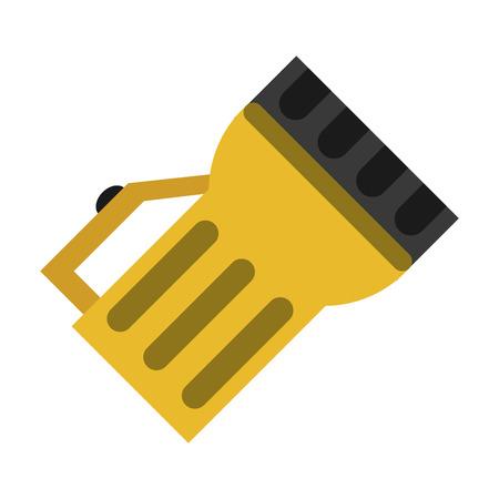 lantern light tool element camping yellow vector illustration