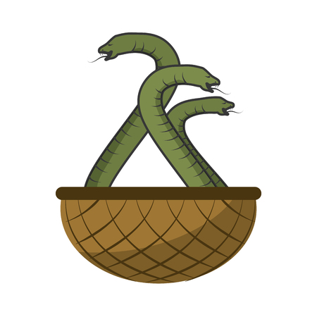 Poisonous Cobra serpent icon vector illustration graphic design