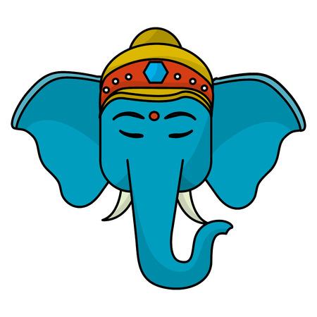 Sacred elephant india icon vector illustration graphic design
