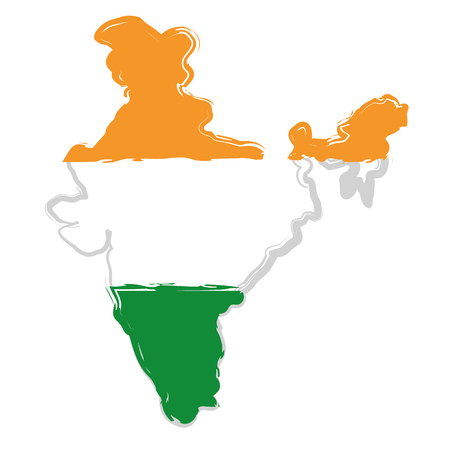 India Map Silhouette Icon Vector Illustration Graphic Design - India map vector