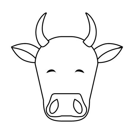 Indian cow head icon vector illustration graphic design