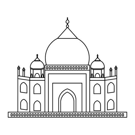 agra: Taj mahal architecture icon vector illustration graphic design