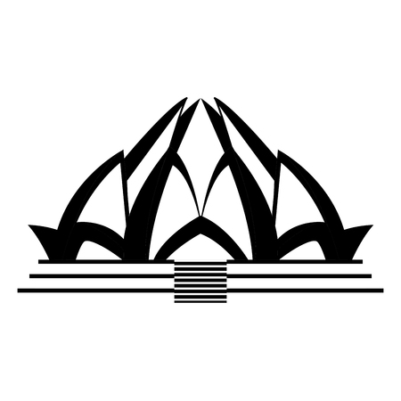 Lotus temple architecture icon vector illustration graphic design Illustration