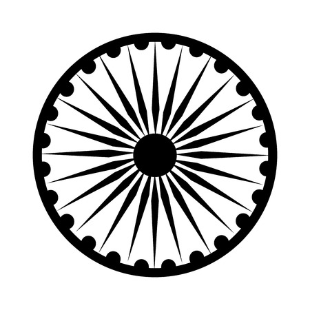 Ashoka Chakra symbol icon vector illustration graphic design Illustration