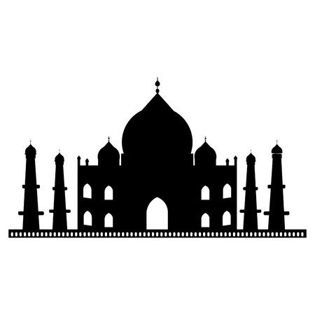 タージ ・ マハル建築アイコン ベクトル イラスト グラフィック デザイン