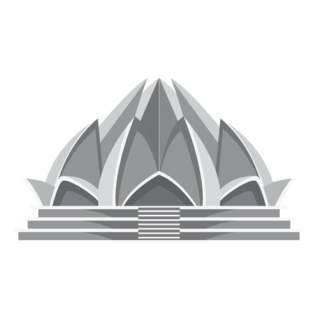 place of worship: Lotus temple architecture icon vector illustration graphic design Illustration