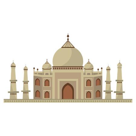 Taj mahal architecture icon vector illustration graphic design