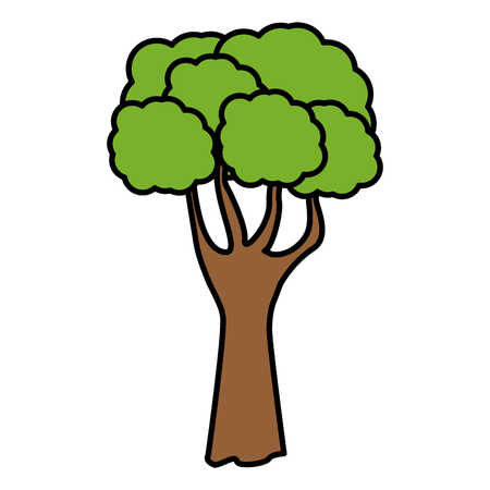 tree green nature icon vector illustration graphic design