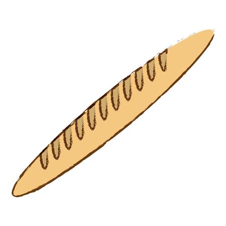 fresh baguette bread icon vector illustration graphic design