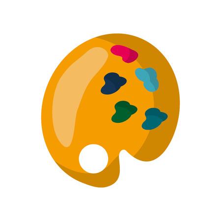 paint palette: art paint palette icon vector illustration graphic design