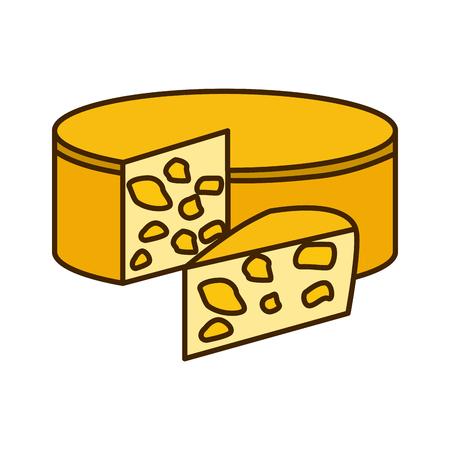 Delicious cheese dairy icon vector illustration graphic design Illustration