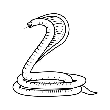 poisonous: Poisonous Cobra serpent Icon vector illustration graphic design